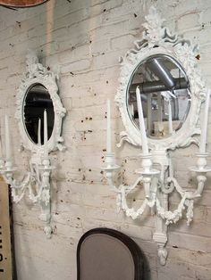 Painted Cottage Chic Shabby White Romantic by paintedcottages, $225.00