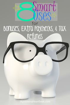 Bonuses can be exciting…and cause you to drop lots of cash over a short period of time on stuff that won't help you accomplish your financial goals. Make the most of bonus money and plan how you'll use it when you get it. Additional paychecks and tax refunds should be dealt with similarly.