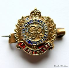 Genuine: WW1 Royal Engineers RE - British Army Sweetheart GVR Brooch Badge | eBay