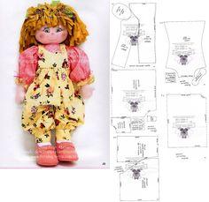 soft cloth rag doll & pattern