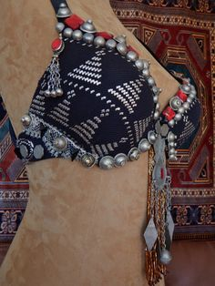 FOR CUSTOM ORDER, Assuit, Assiut Antique Belly Dance Bra, Tribal Fusion…