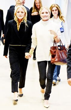 The Olsen Twin Guide to Fall Dressing via @WhoWhatWear