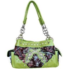 lime green PURSE WITH PISTOLS | Licensed Guns Pistols Camo Camouflage Handbag Purse Satchel Lime Green ...