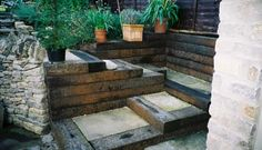 Image result for vertical sleepers garden
