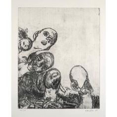Oberon, Georg Baselitz, Softground etching, Dallas Museum of Art, Lay Family Acquisition Fund Macabre, Dallas, Vintage World Maps, Projects To Try, Objects, Texas, Museum, Artists, History