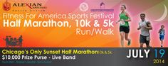 Sunset Half Marathon, 10K, 5K. Paul Douglas Forest Preserve, Hoffman Estates. July 19, 2014. This would be so awesome to run!!!!