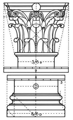 Detail Architecture, Architecture Concept Drawings, Classic Architecture, Gothic Architecture, Historical Architecture, Roman Columns, Art Articles, Technical Drawing, Architect Design