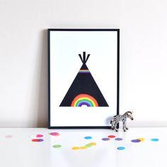 Rainbow Teepee Print