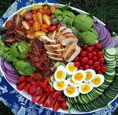 The Ultimate Cobb Salad Clean Food Crush Clean Eating Recipes, Healthy Eating, Cooking Recipes, Healthy Recipes, Salad Recipes, Cucumber Recipes, Eating Clean, Easy Cooking, Grilling Recipes