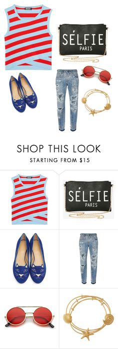 """""""My First Polyvore Outfit"""" by aylenmilagrosjuncos ❤ liked on Polyvore featuring DKNY, Torrid, Charlotte Olympia, Dolce&Gabbana, ZeroUV and Valentino"""