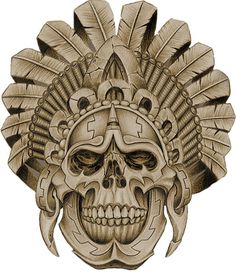 Aztec Warrior Skull                                                                                                                                                                                 Más