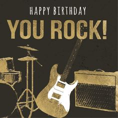 Today Is Your Birthday, Funny Happy Birthday Wishes, Happy Birthday Wishes Cards, Birthday Cheers, Birthday Messages, Happy Birthday Guitar, Happy 2nd Birthday, Happy Birthday Images, Hapoy Birthday