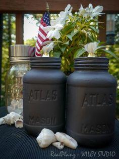 Mason Jar Oil Lamps and Solar Light