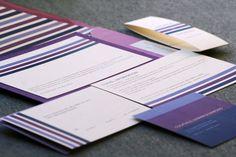 Modern Wedding Invitation Purple Invitations by JulieHananDesign