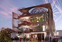 simmetrico network, arassociati architecture and landscape studio AG&P design azerbaijan's pavilion for expo milan 2015