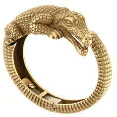 Kieselstein-Cord Alligator Bangle Bracelet