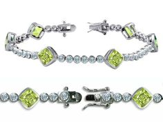 Original Star K(tm) High End Tennis Bracelet With 6pcs 7mm Cushion Cut Genuine Peridot in .925 Sterling Silver Star K. $74.98. Free Lifetime Warranty exclusively offered by Finejewelers. Free High End Jewerly Box and Gift Packaging. Certificate of Authenticity Included with this item. Guaranteed Authentic from the Star K designer line. Star K. Designs are exclusive and protected by Copyright Laws. Save 81%!