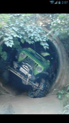 Just awesome. Only in a Jeep :-{b>