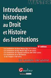 Introduction historique au droit et histoire des institutions Ed. 6 - la bibliothèque de la Banque et de la finance proposée par Revue Banque et Cyberlibris