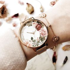 [orginial_title] – Ren Beattie 🌸Beautiful English Garden watch by Olivia Burton has just arrived in store. … 🌸Beautiful English Garden watch by Olivia Burton has just arrived in store. Fancy Watches, Trendy Watches, Cute Watches, Luxury Watches, Cheap Watches, Cute Jewelry, Jewelry Accessories, Fashion Accessories, Jewlery