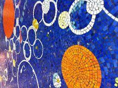 Mosaic floor in Sacramento Airport, USA