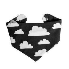 Sjaal met Wolkjes - Färg & Form - Zwart