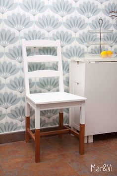Ivar Pine Chairs Half Painted In Brilliant Basic Colours