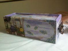 Caja para café Técnica Decoupage Elaborado por Adri.