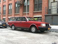 1992 Volvo 240 Red Station Wagon