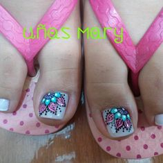 Lindas Em Nails, Cute Toe Nails, Toe Nail Art, Hair And Nails, Acrylic Nails, Pedicure Designs, Nail Art Designs, Pedicure Nails, Manicure And Pedicure