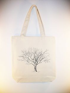 Fantastic Bare Tree  illustration on 15x15 Canvas by Whimsybags, $12.00 -- simple beauty of nature