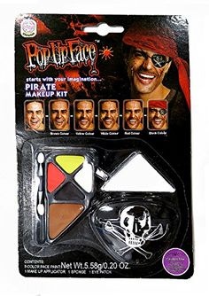 2018 UNI --Pirate Makeup Kit and more Accessories / Kits for Women's Costumes, Women's Halloween Costumes for Halloween Costumes, Pirate Halloween, Pirate Costumes, Pirate Makeup, Makeup Palette, Makeup Kit, Pirates, Make Up, Uni
