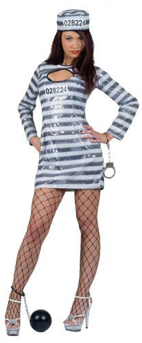 Prisoner Convict Adult Female Costume 4080 | Pinterest | Costumes Female costumes and Hollywood theme parties  sc 1 st  Pinterest & Prisoner Convict Adult Female Costume 4080 | Pinterest | Costumes ...