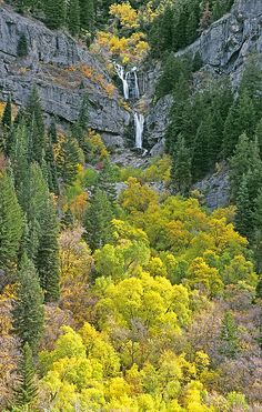 Fall Color and Waterfalls in Provo Canyon - Utah
