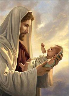 Simon Dewey, Religion, Jesus Painting, Baby Painting, Artist Painting, Jesus Christus, Activities For Adults, Holding Baby, 5d Diamond Painting