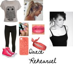 """dance rehearsel withh Dani"" by jessie-horan ❤ liked on Polyvore"