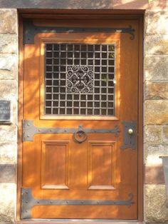 "Longy School of Music - our famous ""door"" :P"