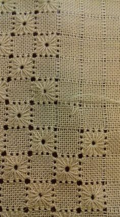 Hardanger Embroidery Stitches More Interesting web site for Punto Antico/ Drawn-thread work. Various Sources for Renaissance Italian embroidery/ drawn thread work… I. Punto Antico From Drawn-thread work has its origins in the distant past: it is carried Hardanger Embroidery, Paper Embroidery, Hand Embroidery Stitches, Hand Embroidery Designs, Embroidery Techniques, Cross Stitch Embroidery, Embroidery Patterns, Chicken Scratch Embroidery, Jute Crafts