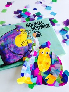 Normal Norman by Tara Lazar and S. Britt + tissue paper collage craft, part of the Normal Norman Blog Tour.