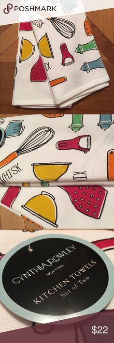 Cynthia Rowley Kitchen Towels Utensils Colorful Cynthia Rowley Kitchen  Towels (set Of 2) Colorful