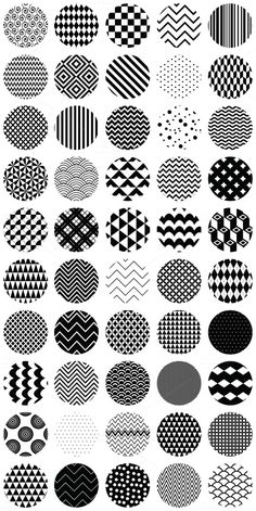 50 Geometric B&W Seamless Patterns $5
