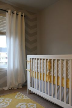 grey and yellow  #projectnursery #franklinandben #nursery