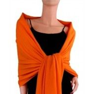 """Pashmina scarf orangeWrap Around Instant Elegance Pashmina scarves are a great way to add a little color or sophistication to your look. 29"""" X 69"""". 100% viscose"""