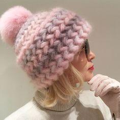 Купить Шапка вязаная ВЕСНА, вязанная из кид-мохера, теплая, женская - шапка, шапка вязаная