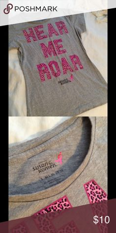 Breast Cancer awareness shirt Susan G Koman foundation shirt. Great way to show your support for all of the brave people who suffer with breast cancer Tops Tees - Short Sleeve