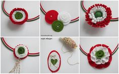 Baba Marta, Textiles, Independence Day, Paper Flowers, Crochet Earrings, March, Paper Crafts, Christmas Ornaments, Holiday Decor