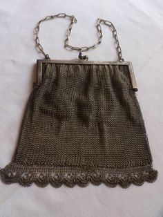 1920s chainmail vintage purse/evening bag por wilsonscollectables