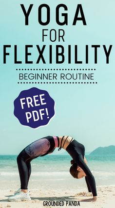 10 Minute Beginner Yoga Routine for Flexibility (+ Free PDF) - This is the best flexibility routine that is perfect for any beginner getting into yoga or just wor - Pilates Reformer Exercises, Yoga Exercises, Pilates Yoga, Stretches, Yoga Workouts, Flexibility Routine, Amazing Flexibility, Yoga Routine For Beginners, Sup Yoga