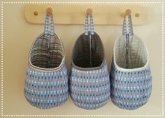 Ideas Fabric Storage Pods Ideas For 2019 Storage Pods, Hanging Storage, Bag Storage, Camper Storage, Sewing Room Storage, Fabric Storage, Sewing To Sell, Love Sewing, Sewing Diy