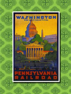 Washington D.C. Travel Poster Wall Decor 7 by TheWorldTravelers